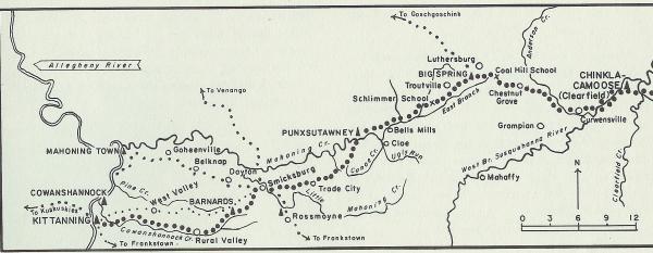 Map of Great Shamokin Path, west.