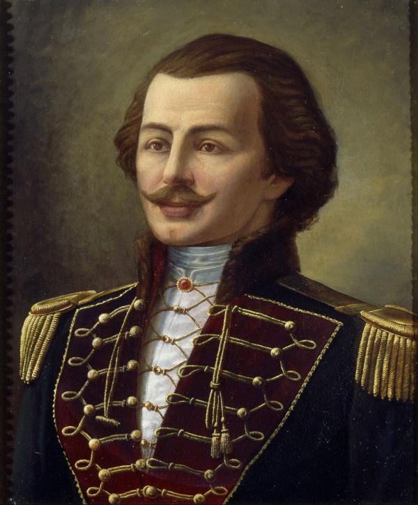 Oil on canvas of Casimir Pulaski, by Julian Rys, c.1897