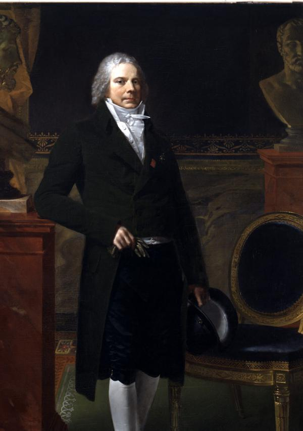 Oil on canvas painting of Charles-Maurice de Talleyrand-Périgord.