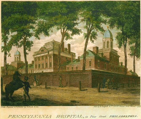 Pennsylvania Hospital, in Pine Street, Philadelphia.