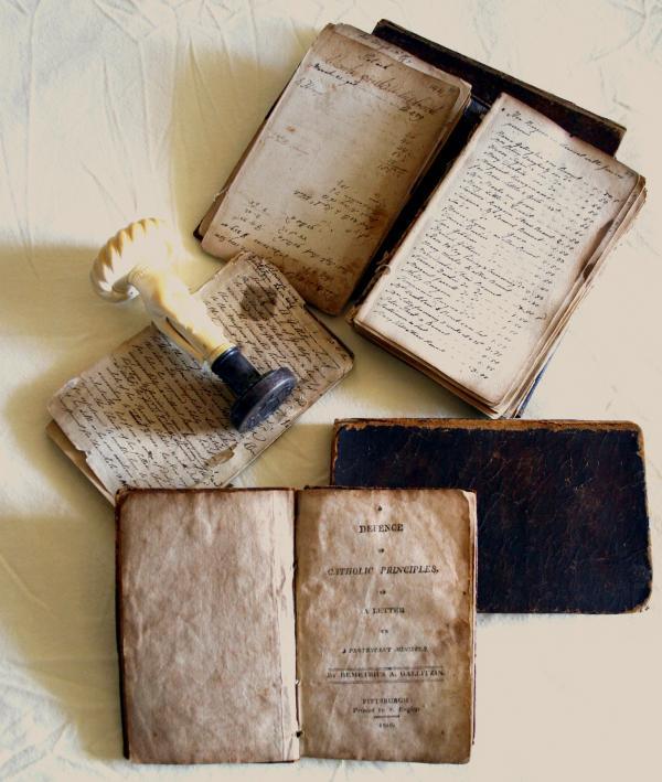 Memorandum book, Defence book, seal,and diary