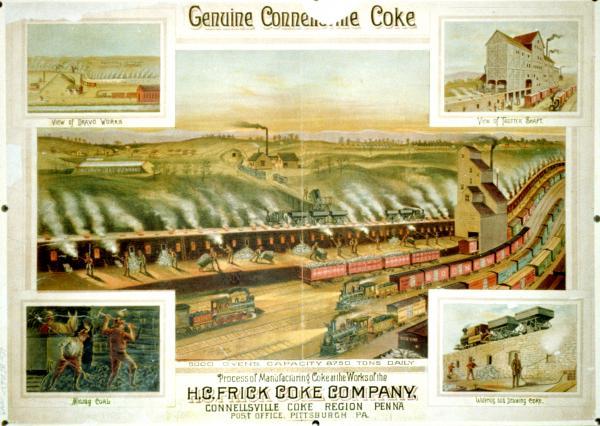 Genuine Connellsville coke engraving