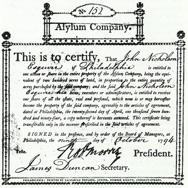 Azilum Company land certificate.