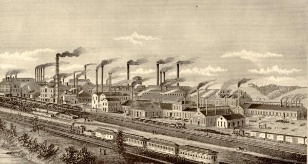 General view of the Pennsylvania Steel Works.