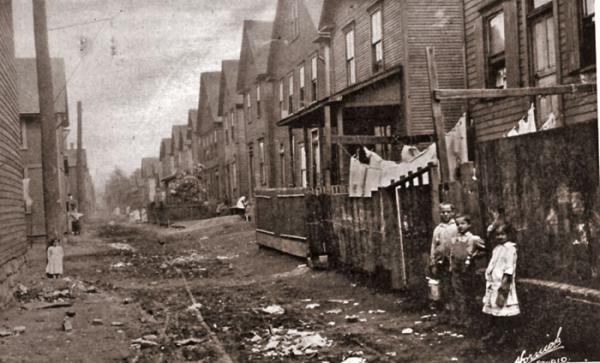 Tenement Housing and children in Johnstown.