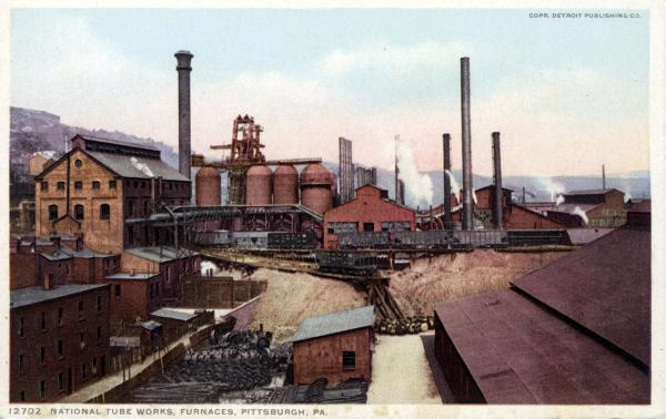 Color postcard of the National Tube Works.