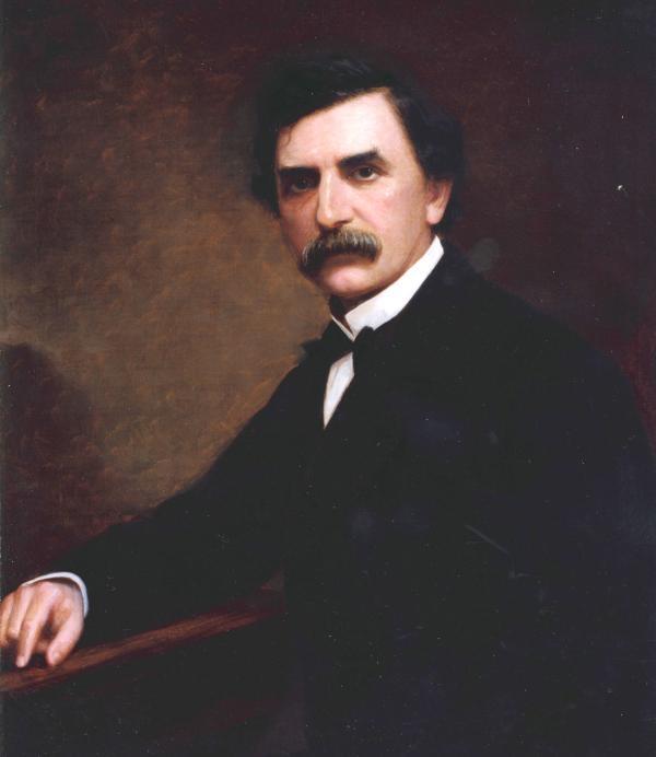 Oil on canvas formal portrait