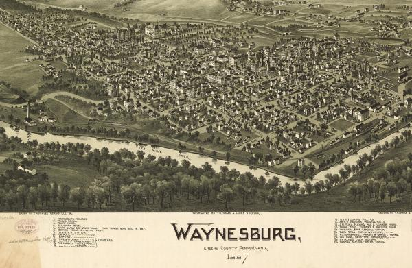 Waynesburg, Greene County, Pennsylvania, by Thaddeus Mortimer. Fowler and James B. Moyer, 1897.