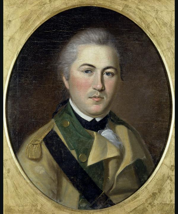 Oil on canvas of Henry Lee in uniform.