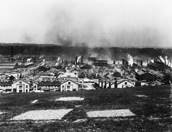 Image of the Homestead Steel Works.
