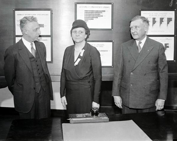 Pennsylvania Employment Commission, and Dr. A.M. Northrup, secretary of Labor and Industry for the State of Pennsylvania.  Philadelphia, February 17, 1933.