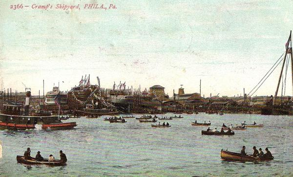 Postcard of the shipyard