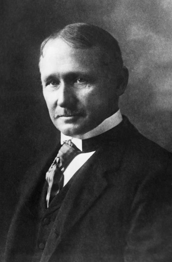 Black and white, head and shoulders photograph of Frederick W. Taylor, circa 1905.