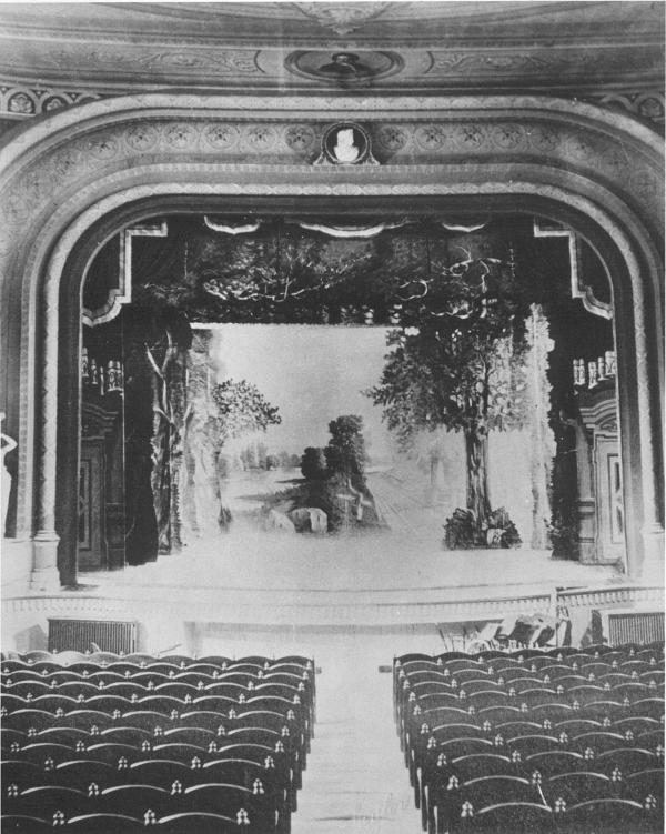 Fulton Opera House interior, stage