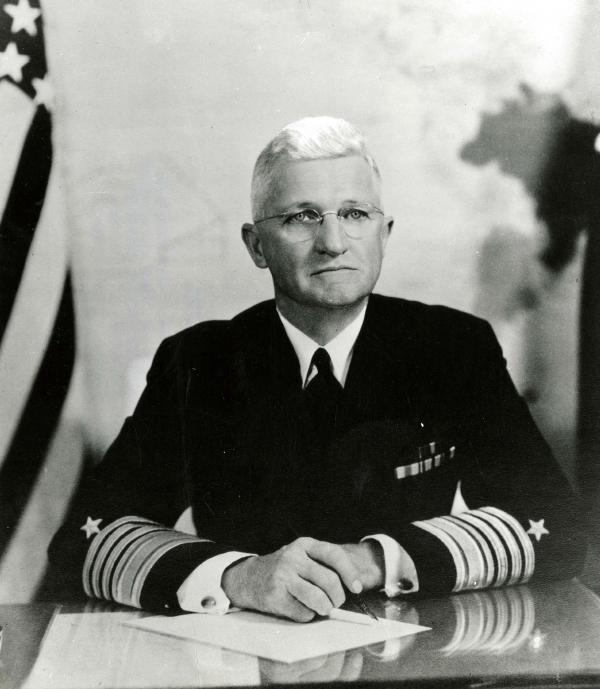Photograph of Admiral Harold Stars in uniform