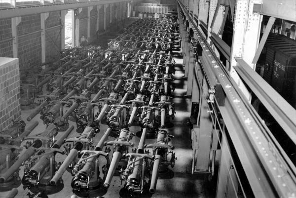 Hundreds of guns stored and ready for shipment.