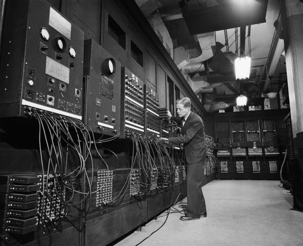 Early computer and operator