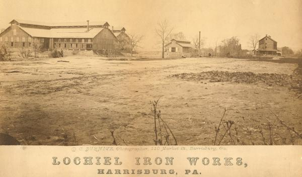 Sepia photograph  of the Lochiel Works.