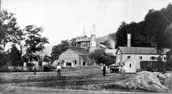 Black and white photograph of the Chickies Furnace #1.