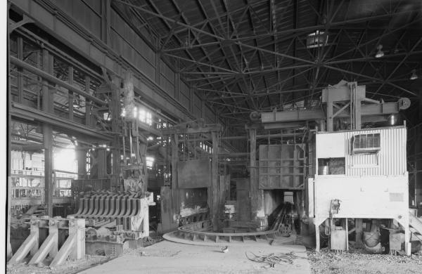 Interior of the rolling mill