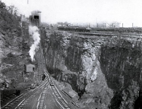 Photograph of the mining operations.