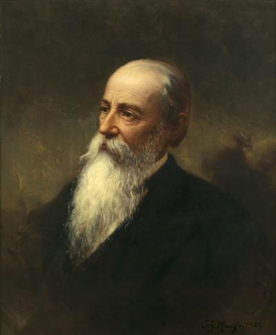 Oil on canvas portrait.