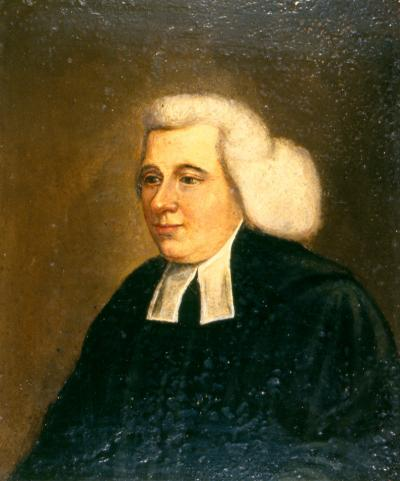 Oil on canvas of Nisbet facing left, head and shoulders, wearing academic dress.