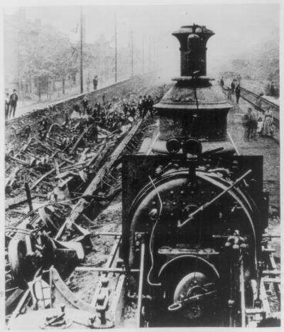 Damaged Track, Railroad Riots, Pennsylvania Railroad, Pittsburgh, 1877.