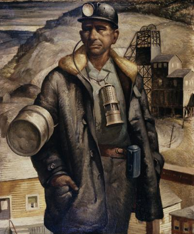 Portrait of a miner.