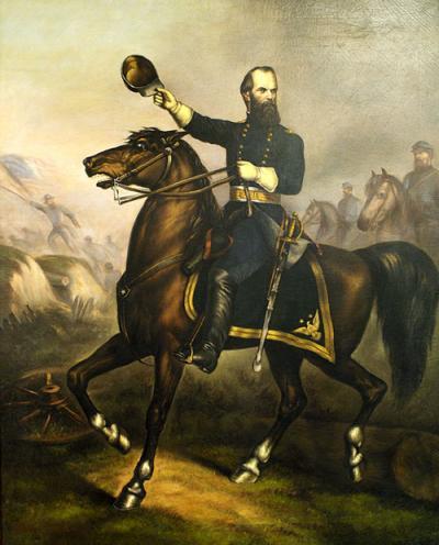 John Geary on horseback.