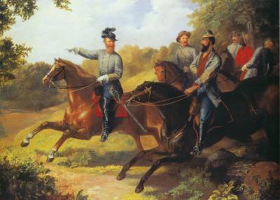 Jeb Stuart image on horseback.