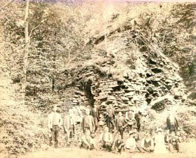 Image of the furnace and workers