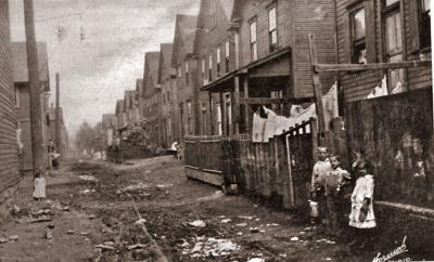 Tenement Housing and children in Johnstown.