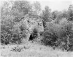 The remains of one of the iron furnaces at Brady's Bend Works.