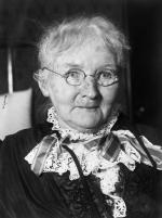Black and white photograph of Mary Harris, head and shoulders.