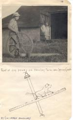 Photograph of a Dog Powered Tread machine.