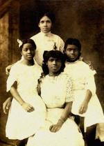 Anna Anderson (standing), Alyse (left), Marian (center), Ethel (right)