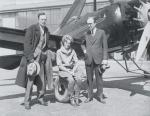 Amelia Earhart with Husband and Harold Pitcairn