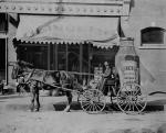 H. J. Heinz Company advertising cart for its preserved sweet pickles, 1890.