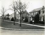 Residences; Elm Avenue; North side of street from Ridge Avenue west, 1932.