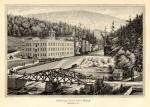 Image of the building, grounds, and a brige leading to the company.'