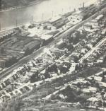 Pittsburgh Plate Glass aerial view.In the background is the Allegheny River and in the foreground is part of Ford City.
