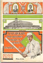 A souvenir program from the 1909 Philadelphia A's.