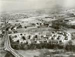 Aerial view of the housing project.