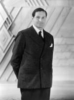 Edgar J. Kaufman, Sr. standing in Fallingwater office.