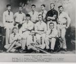 Group photograph of The Haverford College Cricket Team, Haverford, PA, 1878.