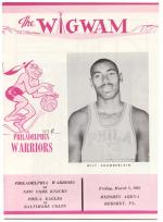 Program for the basketball game in which Wilt Chamberlain scored 100 points