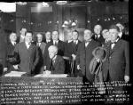 Judge Landis surrounded by baseball team owners, Chicago, 1920.