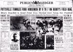"Newspaper article, Philadelphia Public Ledger and North American, ""Pottsville Tumbles Four Horsemen by 9-7,"" December 23, 1925."