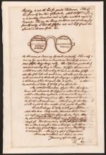 Sketch of Franklin's Design for Bifocals'